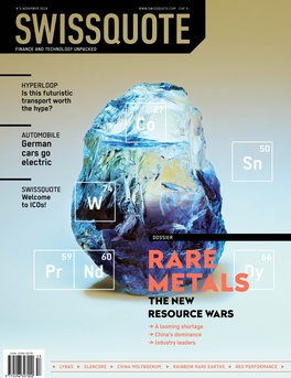 Rare Metals - The new resource wars